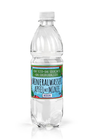 Mineral Water with a natural aroma without sugar, sweeteners and preservatives - Apple and mint
