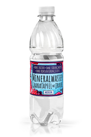 Mineral Water with a natural aroma without sugar, sweeteners and preservatives - Pomegranate and grape