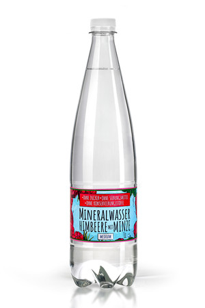 Mineral Water with a natural aroma without sugar, sweeteners and preservatives - Raspberry and mint