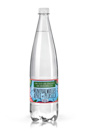 Mineral Water with a natural aroma without sugar, sweeteners and preservatives - Apple and Peach