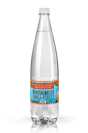 Mineral Water with a natural aroma without sugar, sweeteners and preservatives - Orange and Peach